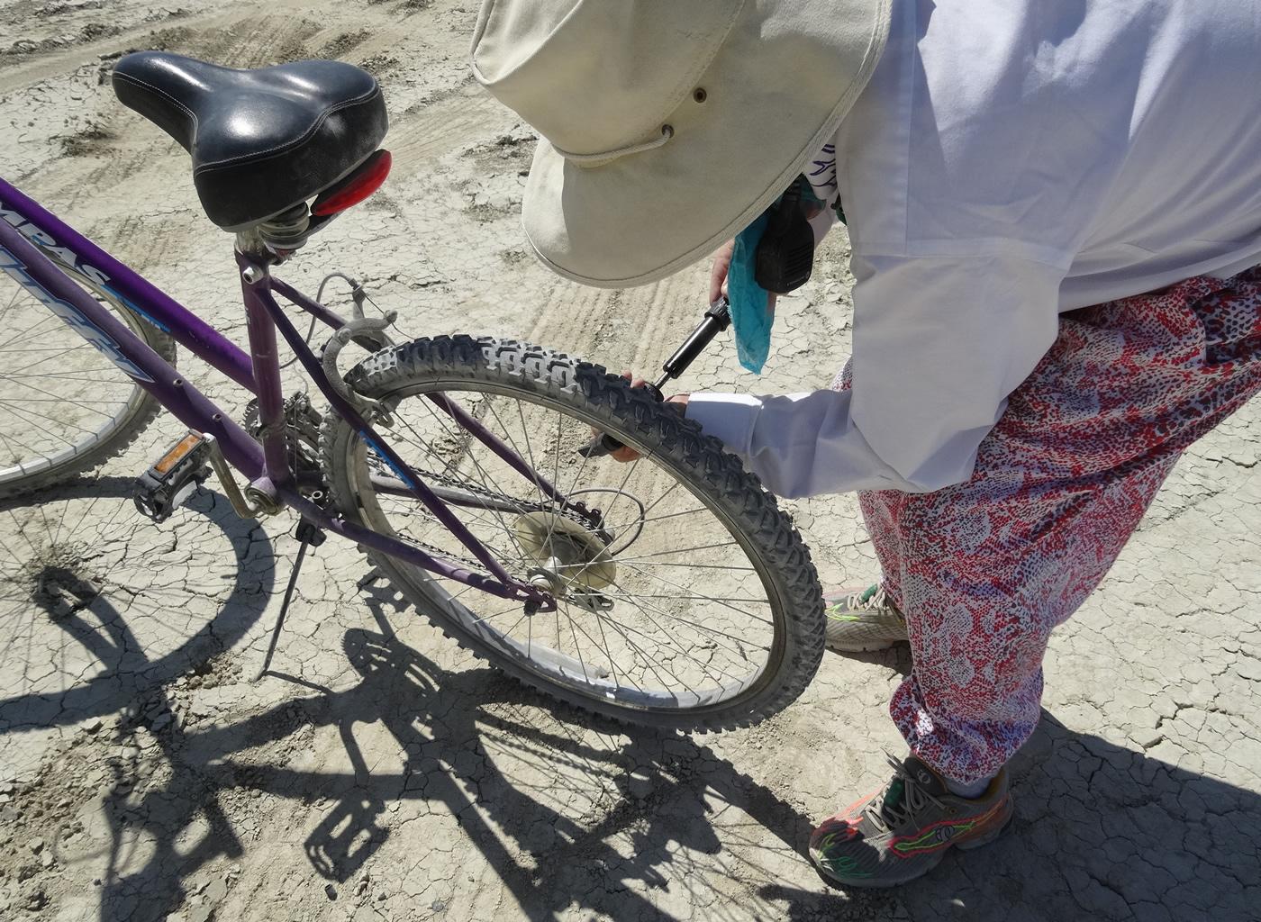 Bike Pump To The Rescue